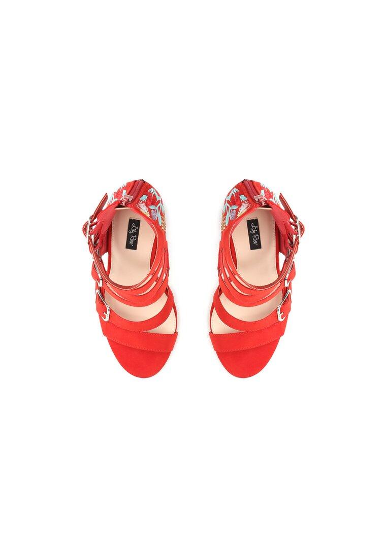 Czerwone Sandały Hello Heartbreak