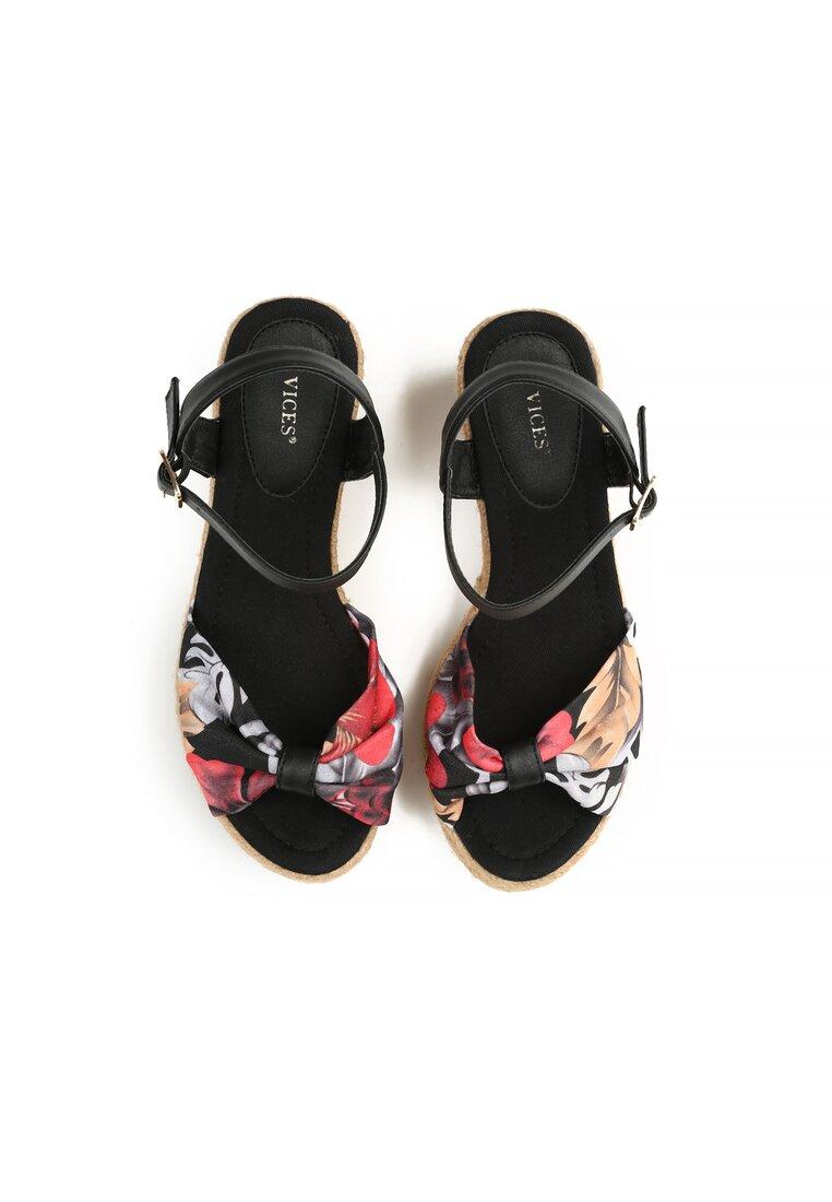 Czarne Sandały Crocus