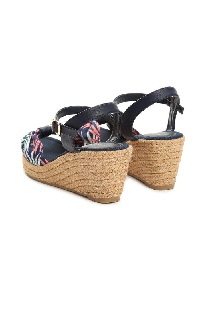 Granatowe Sandały Crocus
