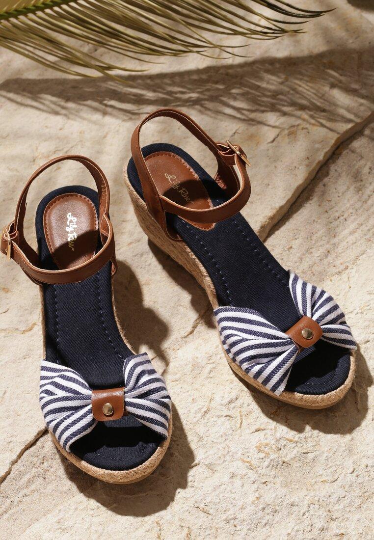 Granatowe Sandały Capsize