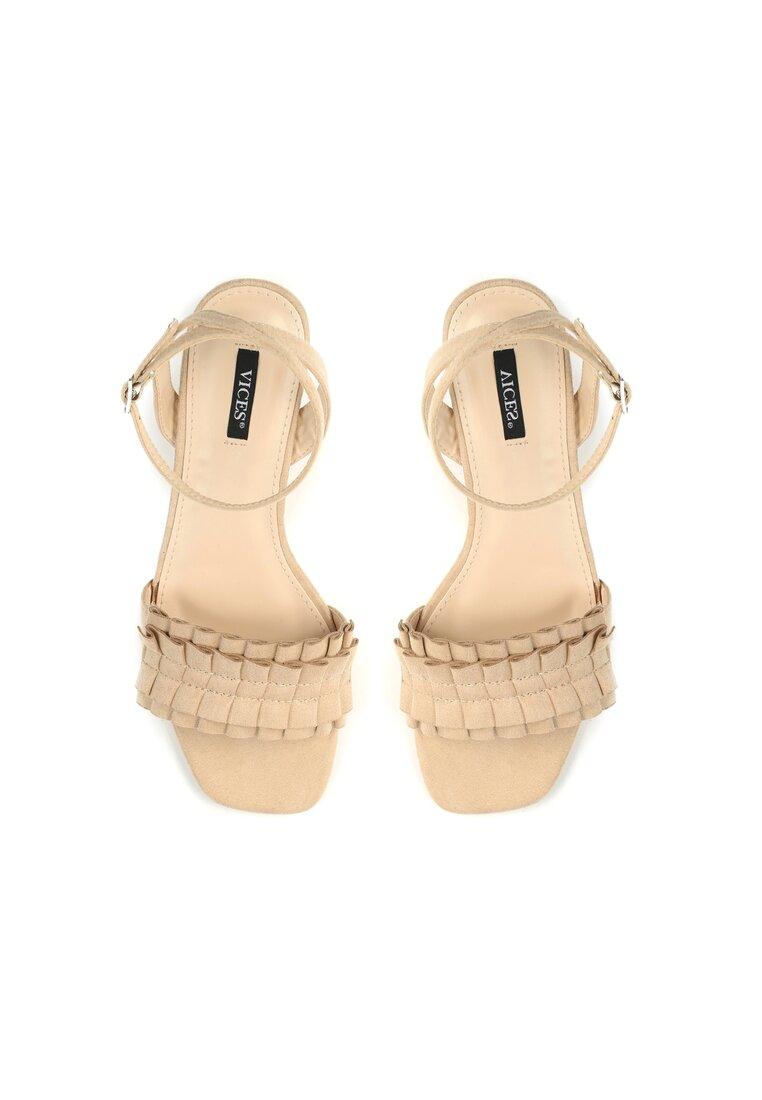 Beżowe Sandały Want Me Too