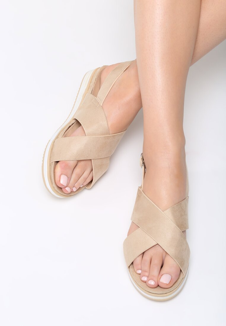 Beżowe Sandały Materialistic