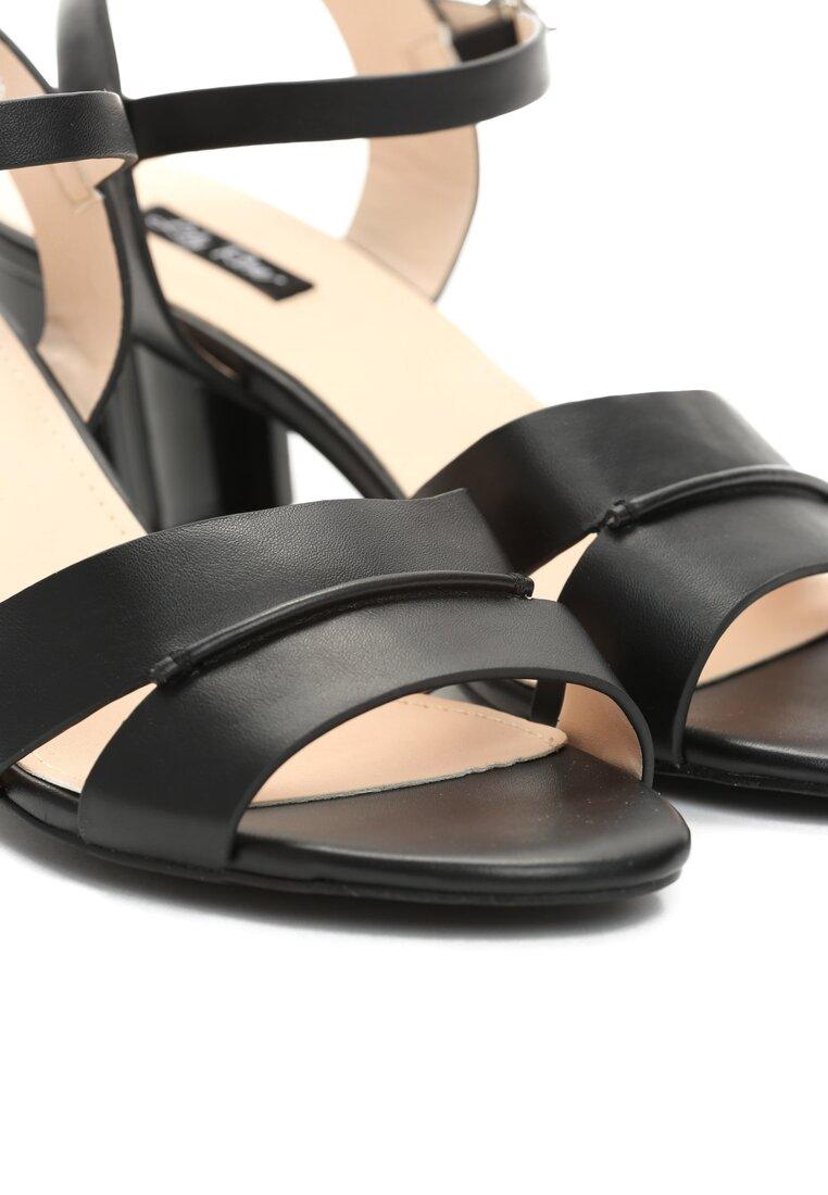 Czarne Sandały Sweety Heart
