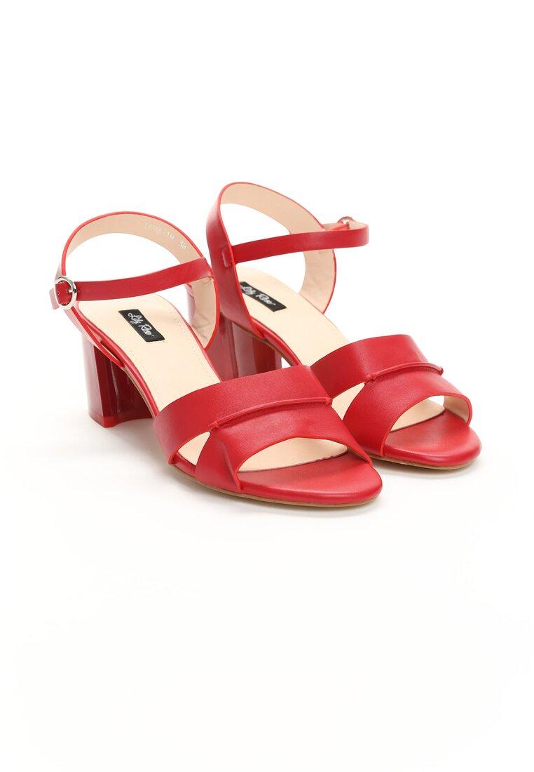 Czerwone Sandały Sweety Heart
