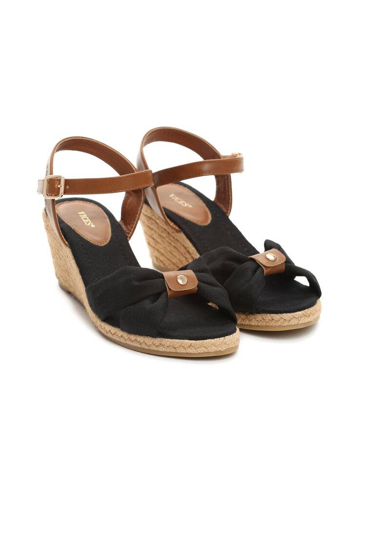 Czarne Sandały She Is Crazy