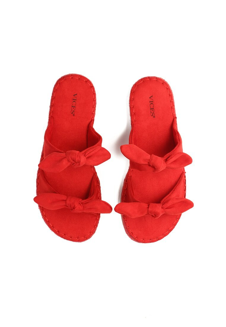 Czerwone Klapki Blush