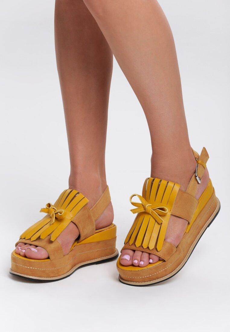 Żółte Sandały Outrageous