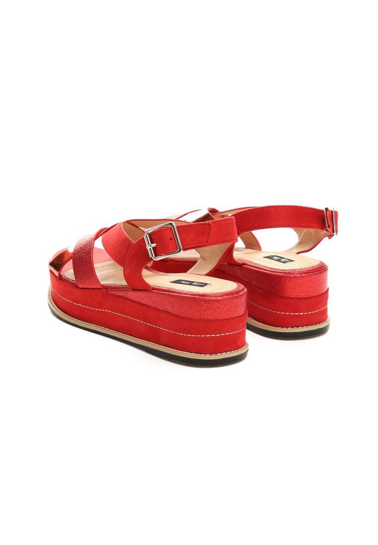Czerwone Sandały Periwinkle