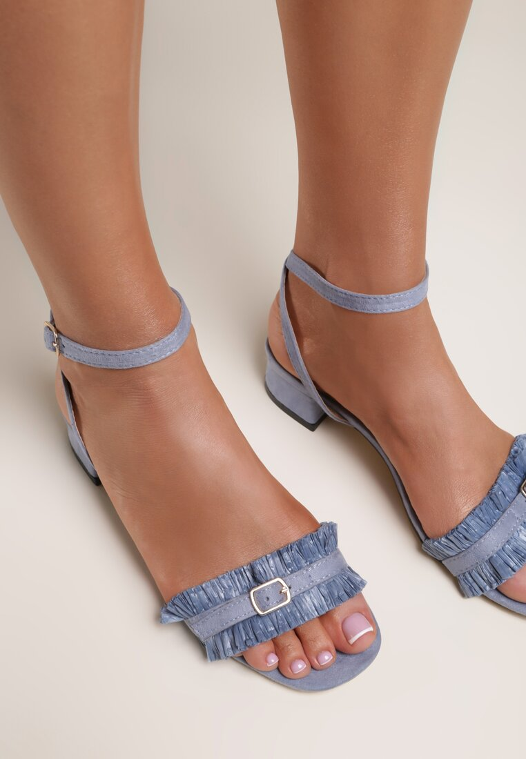 Niebieskie Sandały My Foolish Heart