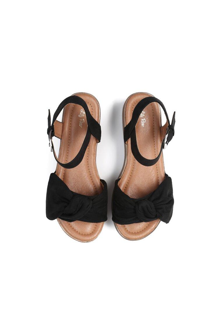 Czarne Sandały Etherealize