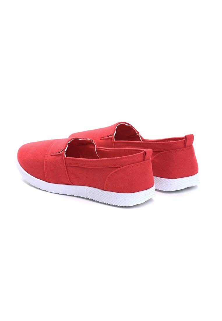 Czerwone Slip On In The Middle