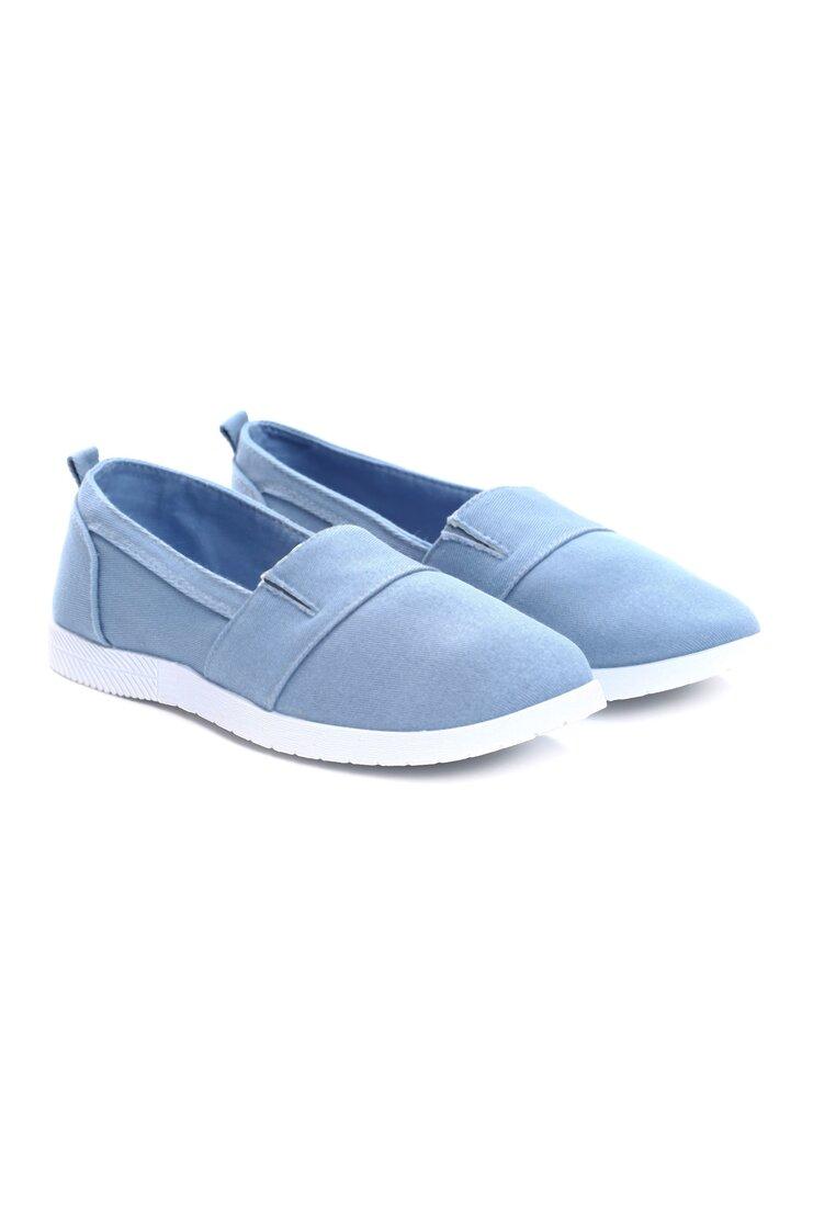 Niebieskie Slip On In The Middle