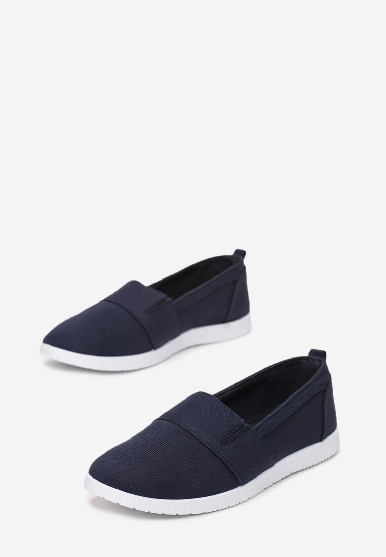 Granatowe Slip On In The Middle