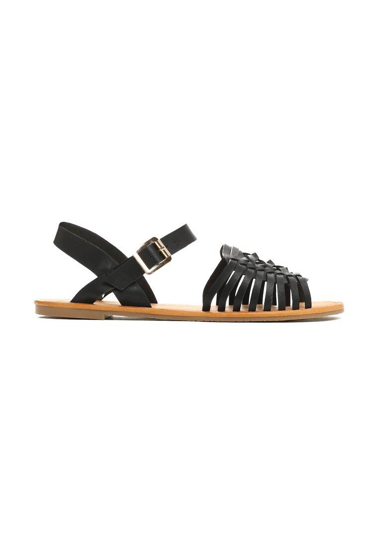 Czarne Sandały Outsider
