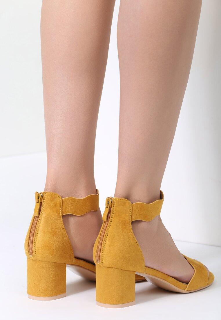 Żółte Sandały Back And Relax