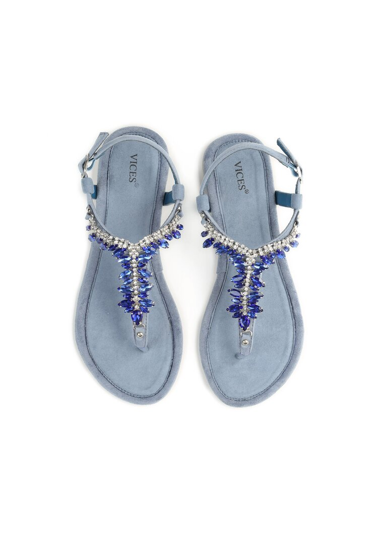 Niebieskie Sandały French Kissin