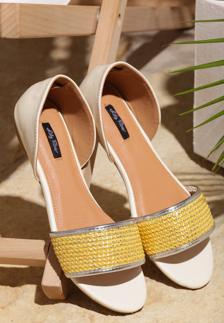 Żółte Sandały Just Be Good To Me