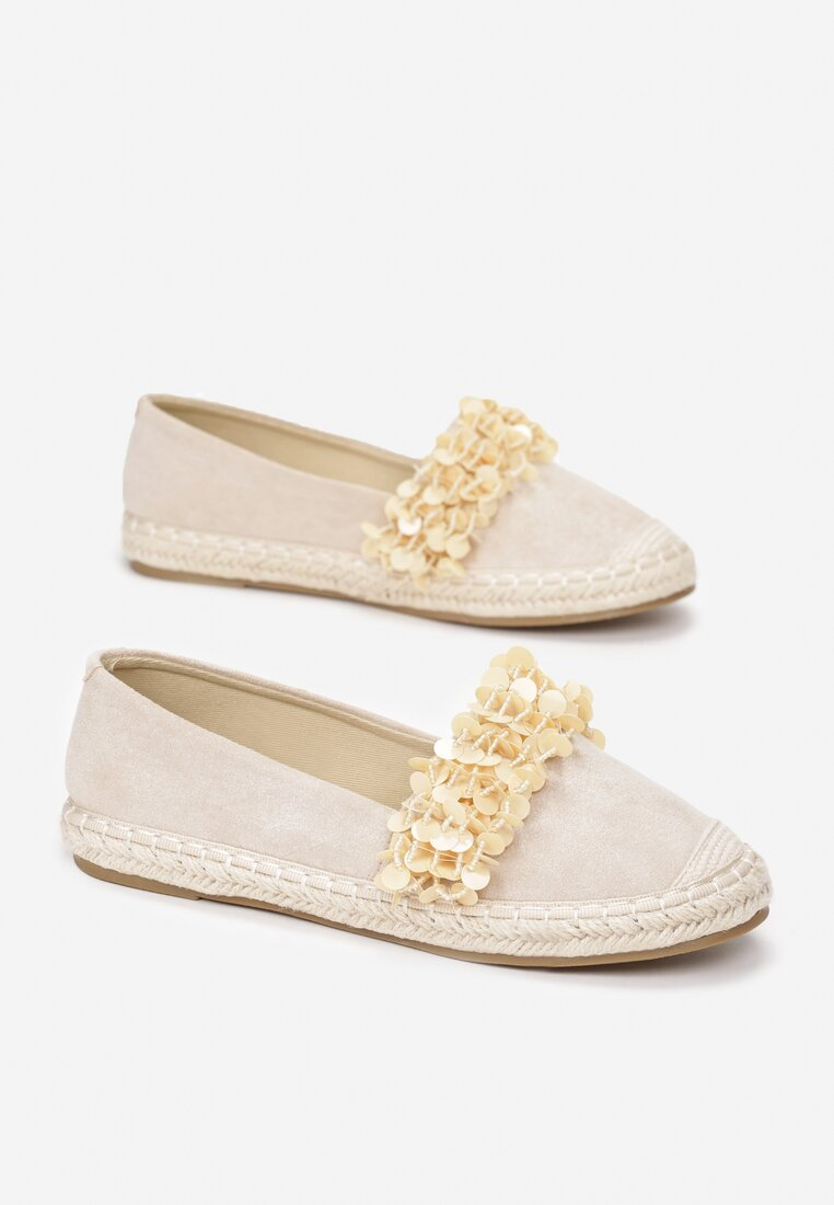 Beżowe Espadryle First Impression