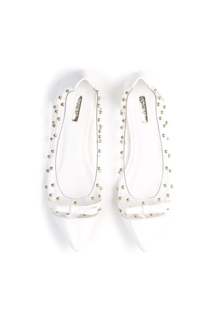 Białe Balerinki Twist It
