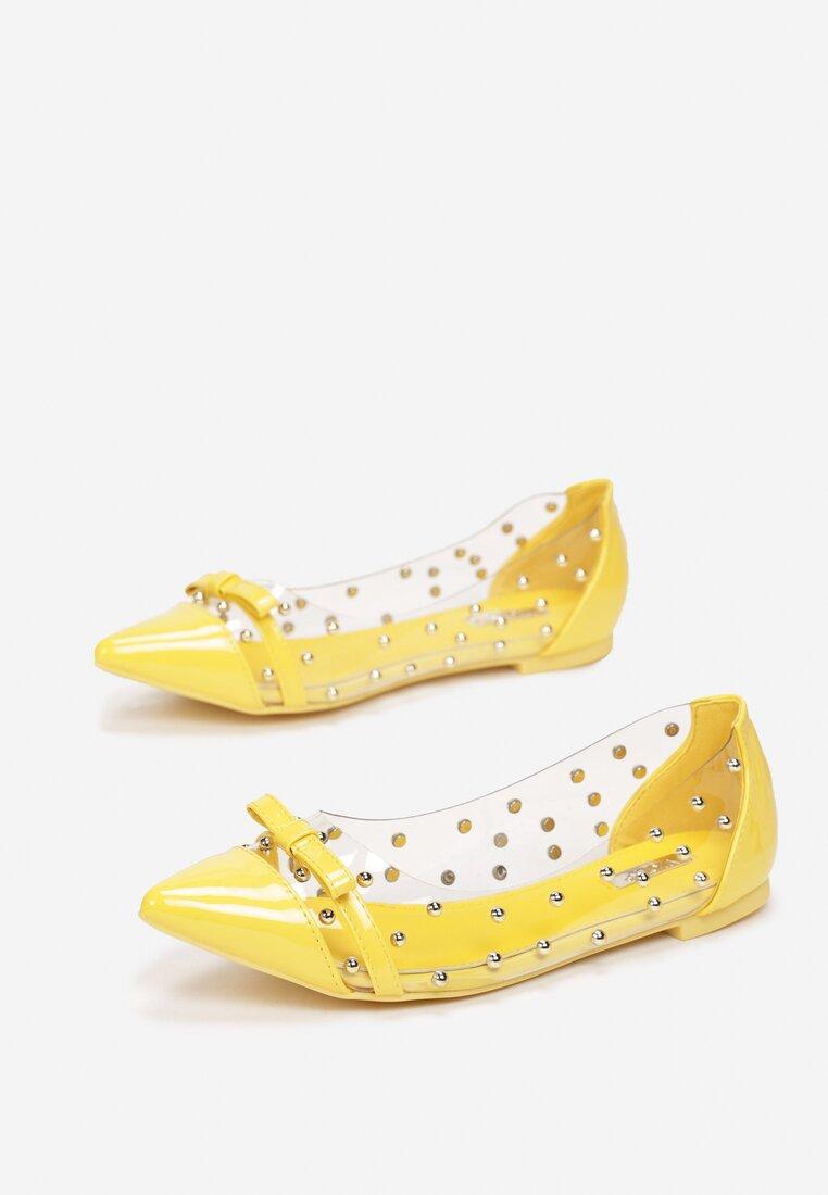 Żółte Balerinki Twist It