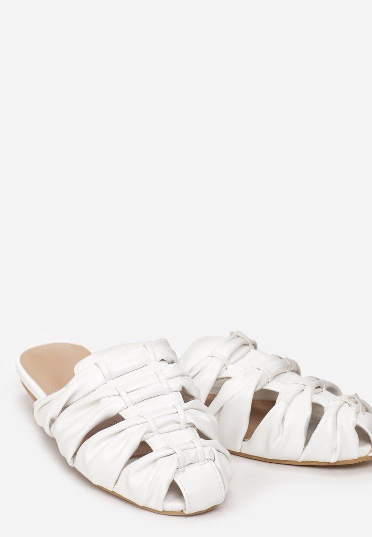 Białe Klapki Thistle