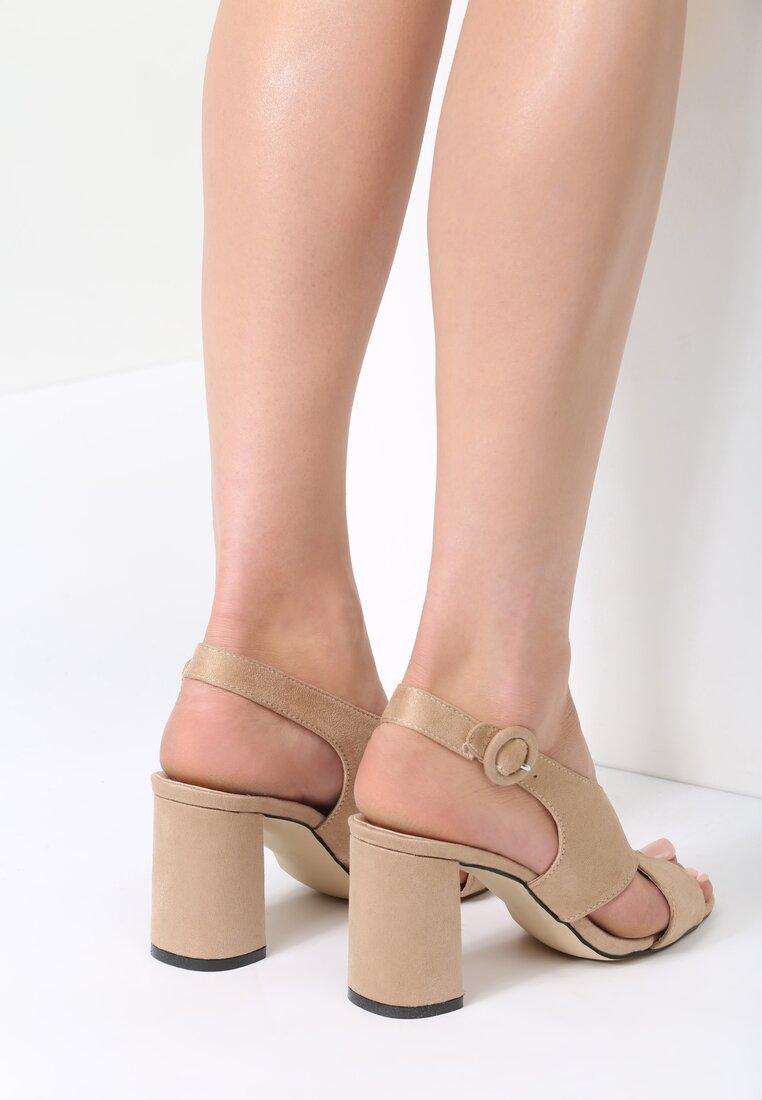 Beżowe Sandały Didn't Know