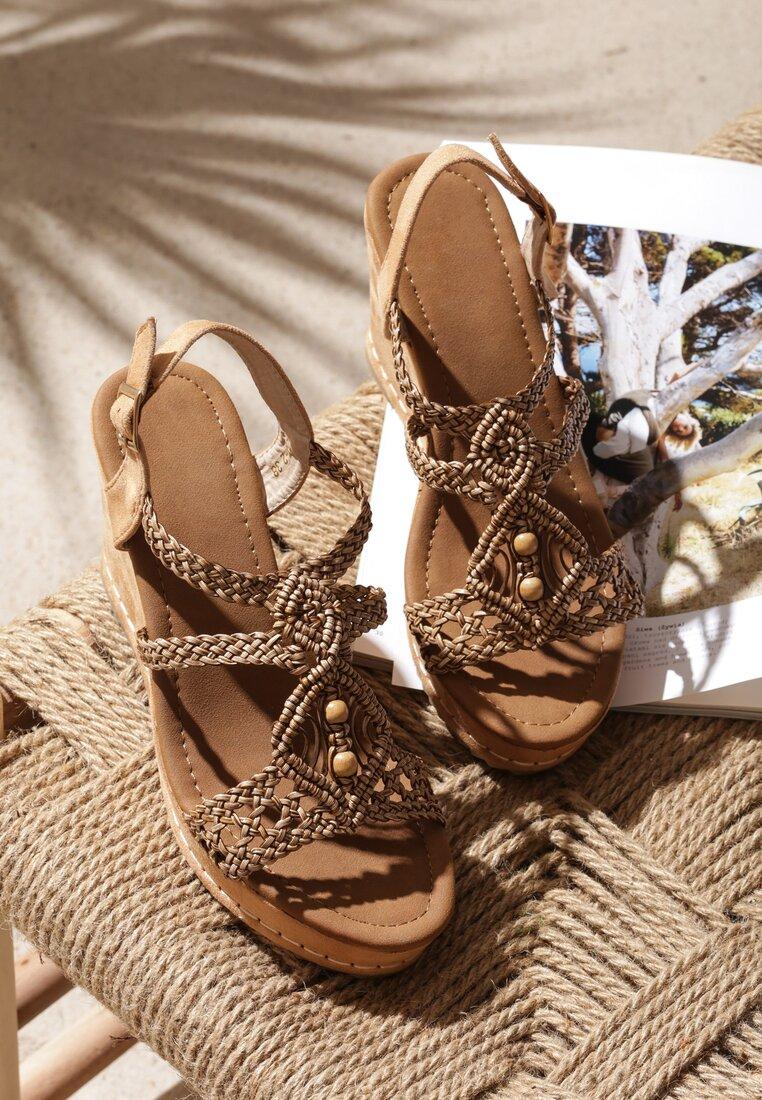 Brązowe Sandały Sensibility