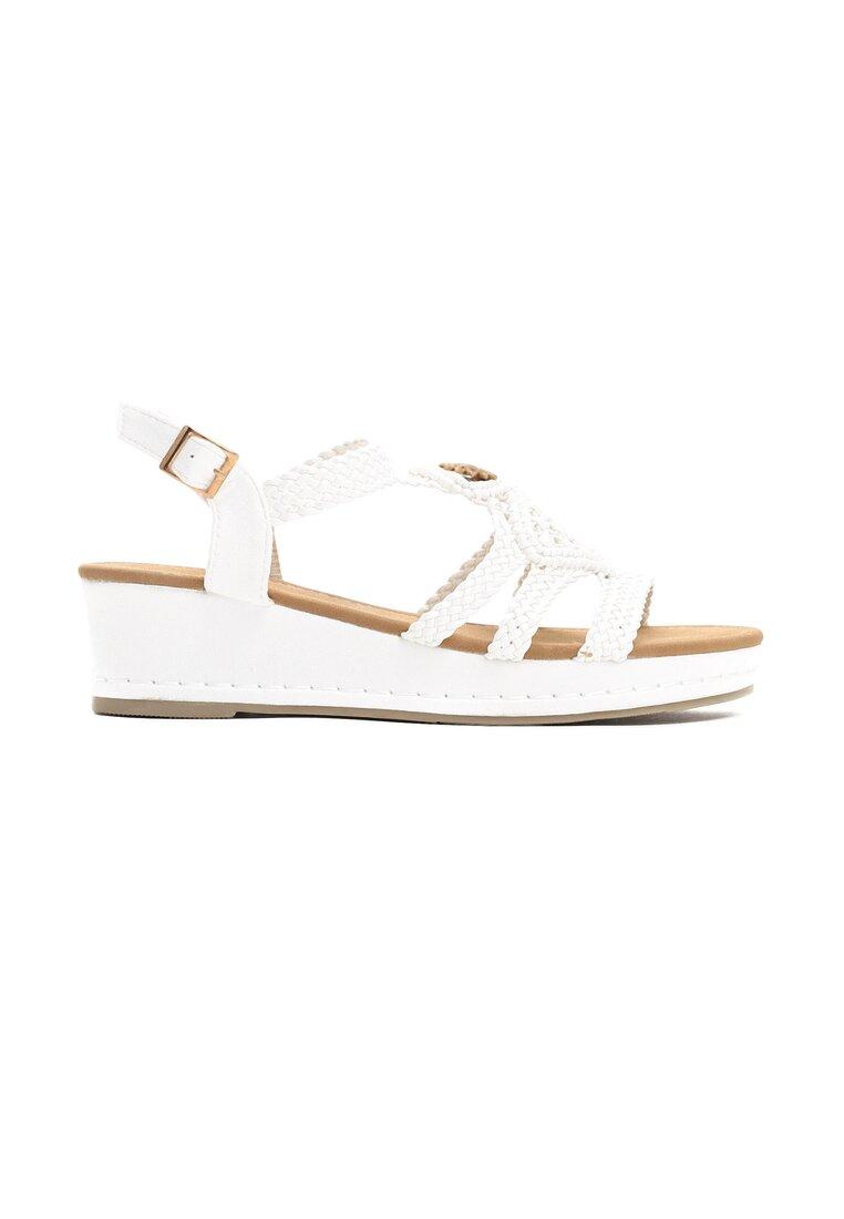 Białe Sandały See-Through