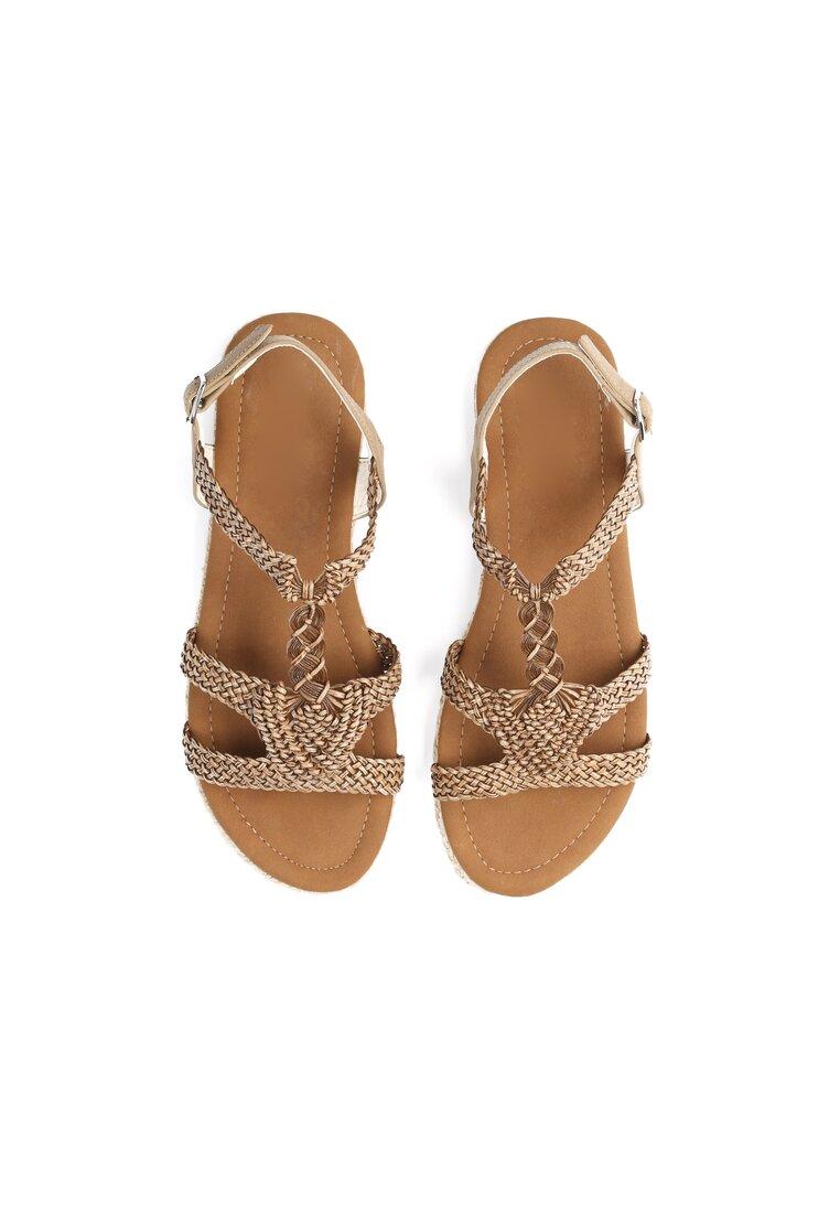 Brązowe Sandały Double Trouble
