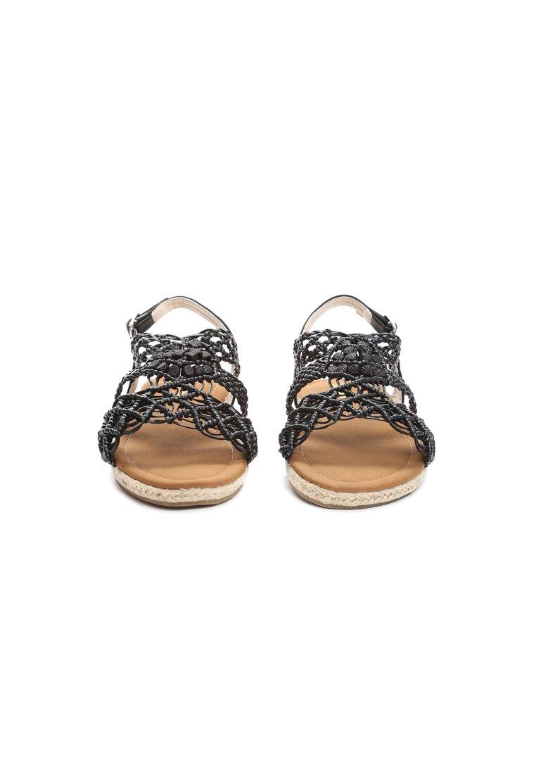 Czarne Sandały Spiteful