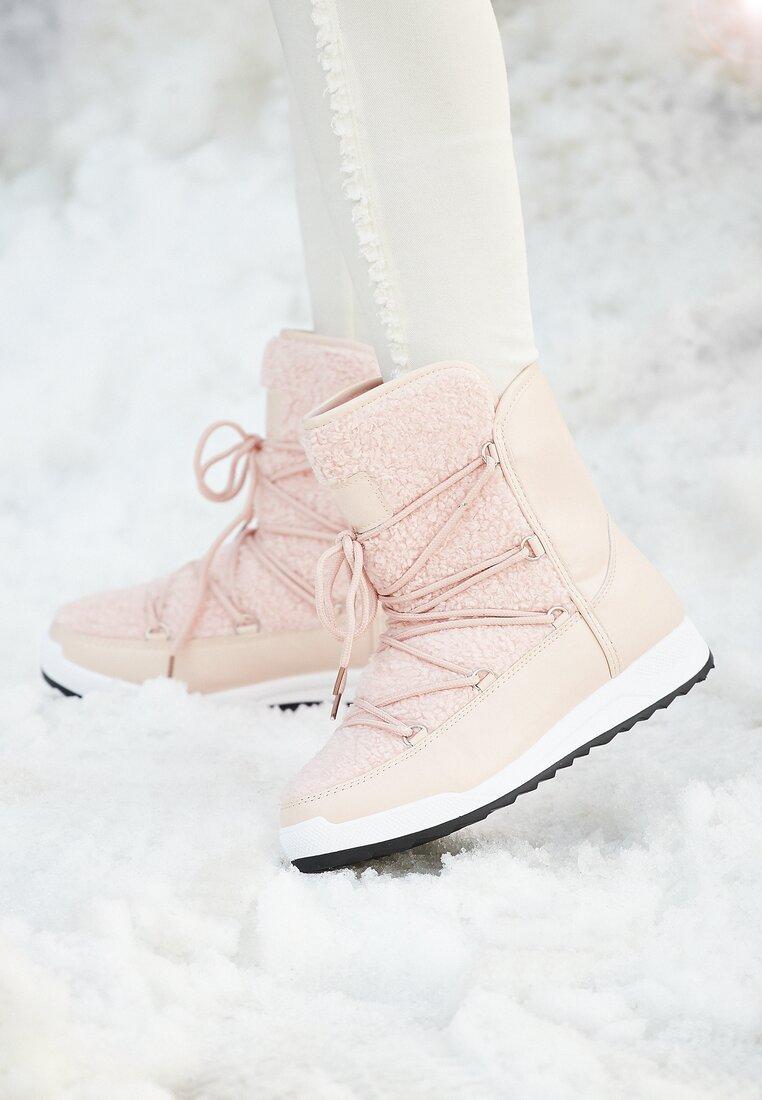 Różowe Śniegowce Snow Globe