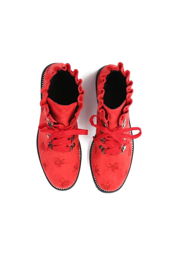 Czerwone Botki Layering
