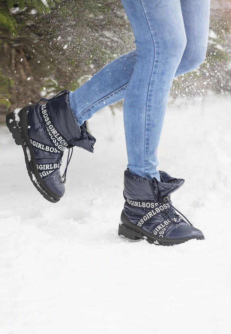 Granatowe Śniegowce Winterweight