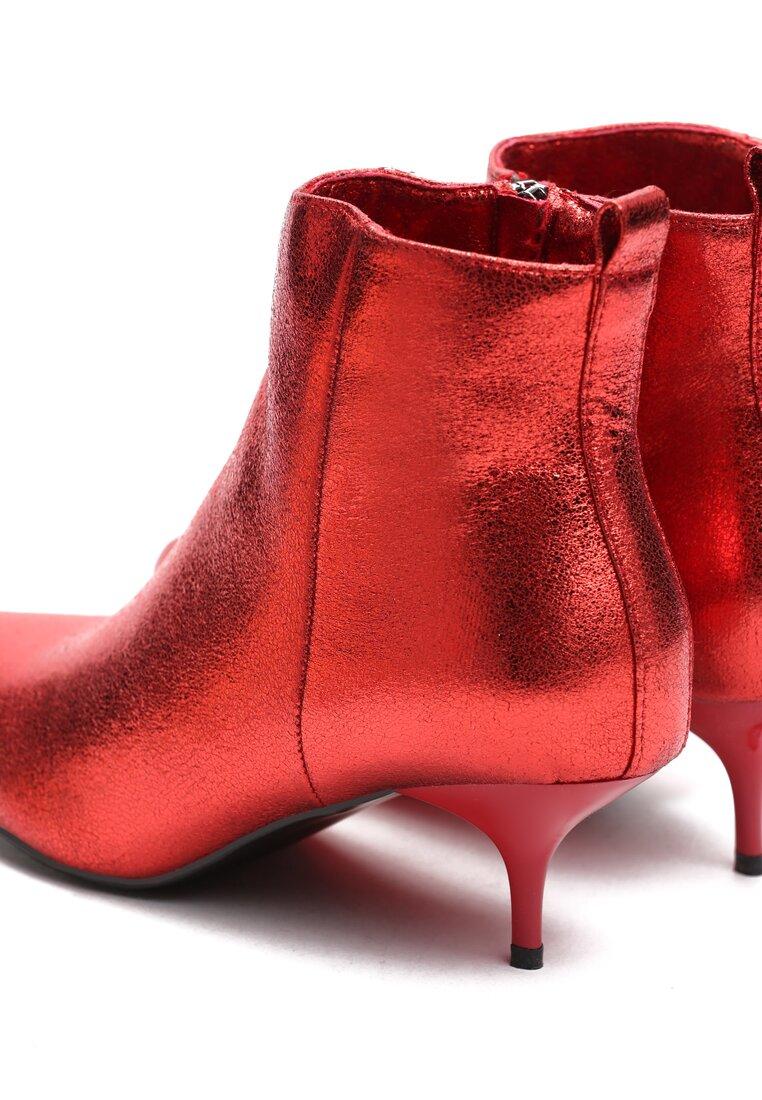 Czerwone Botki Metallic