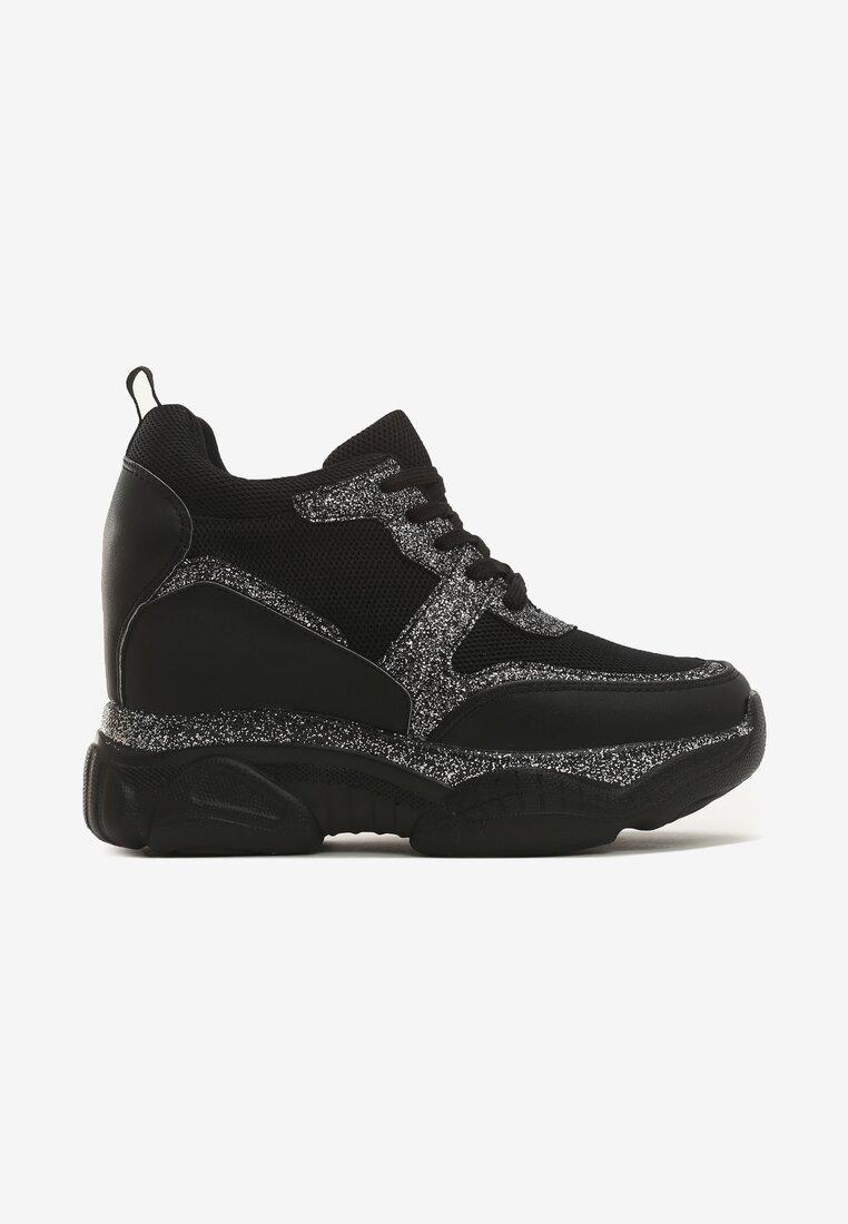 Czarne Sneakersy Modern